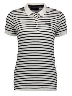 Superdry T-shirt STRIPE POLO SHIRT W6010015A WHITE STRIPE