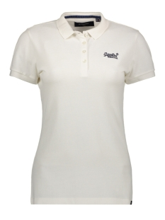 Superdry T-shirt POLO SHIRT W6010017A CHALK WHITE