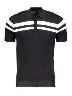 Antony Morato Polo POLO SWEATER MMSW01068 9000 BLACK