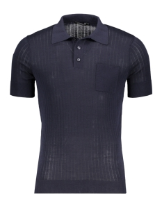 Antony Morato Polo SWEATER POLO MMSW01059 7073 BLUE INK
