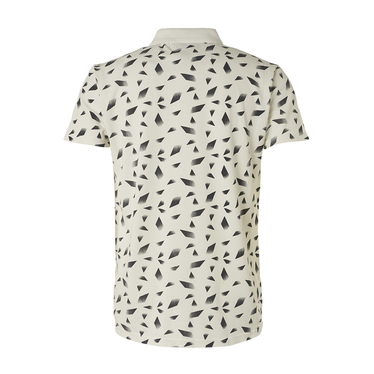 polo met print 95380311 no-excess polo 011 offwhite