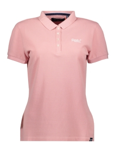 Superdry T-shirt POLO SHIRT W6010017A SOFT PINK