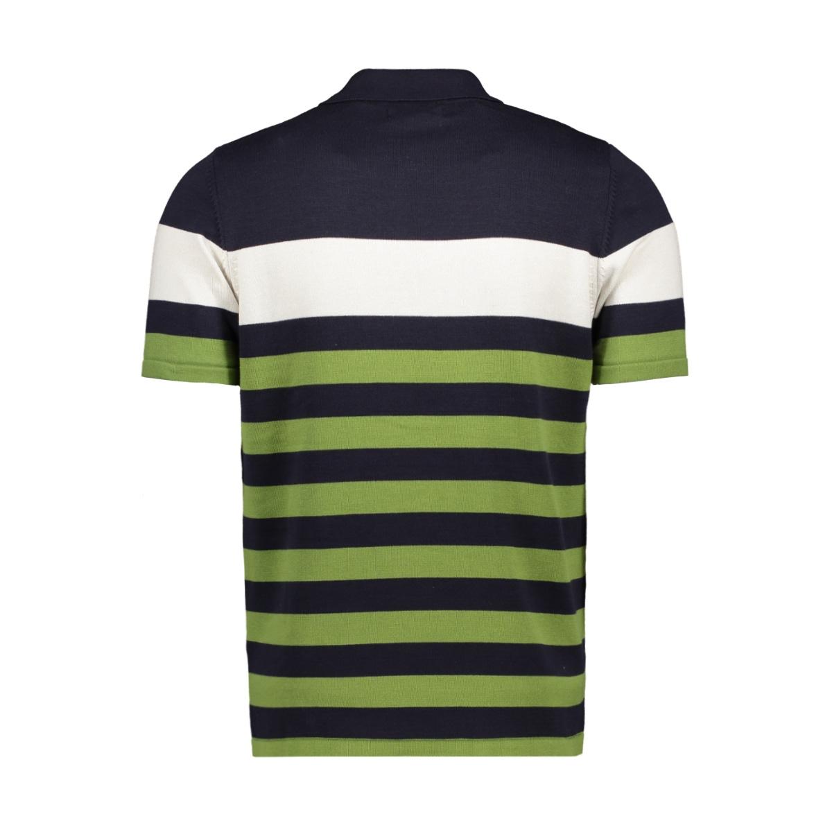 lucca ferlucci polo navy/green stripe