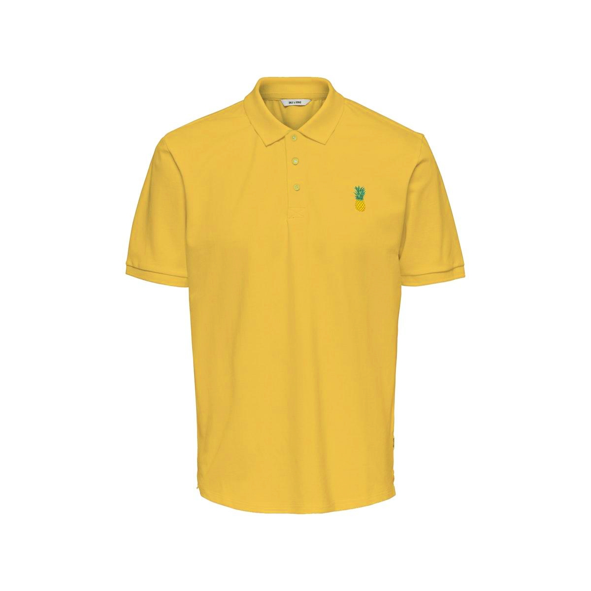 onsbilly reg ss polo 22016504 only & sons polo misted yellow