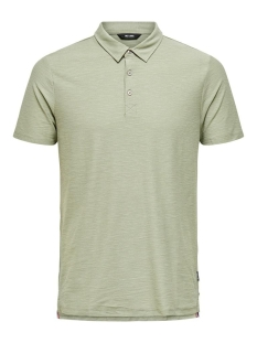 Only & Sons Polo ONSILKAS SLIM SS POLO NOOS 22016346 SEAGRASS