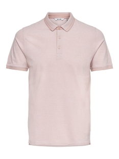 Only & Sons Polo ONSSTAN LIFE SS FITTED POLOTEE(6560 22011349 MISTY ROSE DETAIL: SOLID