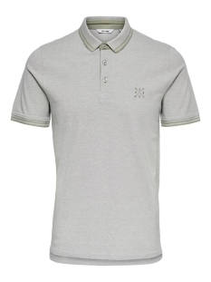Only & Sons Polo ONSSTAN SS FITTED POLO TEE 6560 NOOS 22011349 SEAGRASS/SOLID