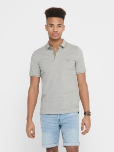 onsstan ss fitted polo tee 6560 noos 22011349 only & sons polo seagrass/solid