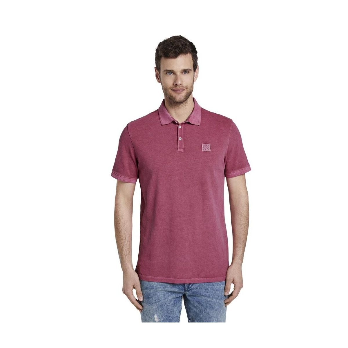 polo shirt met logo patch 1018853xx10 tom tailor polo 21181