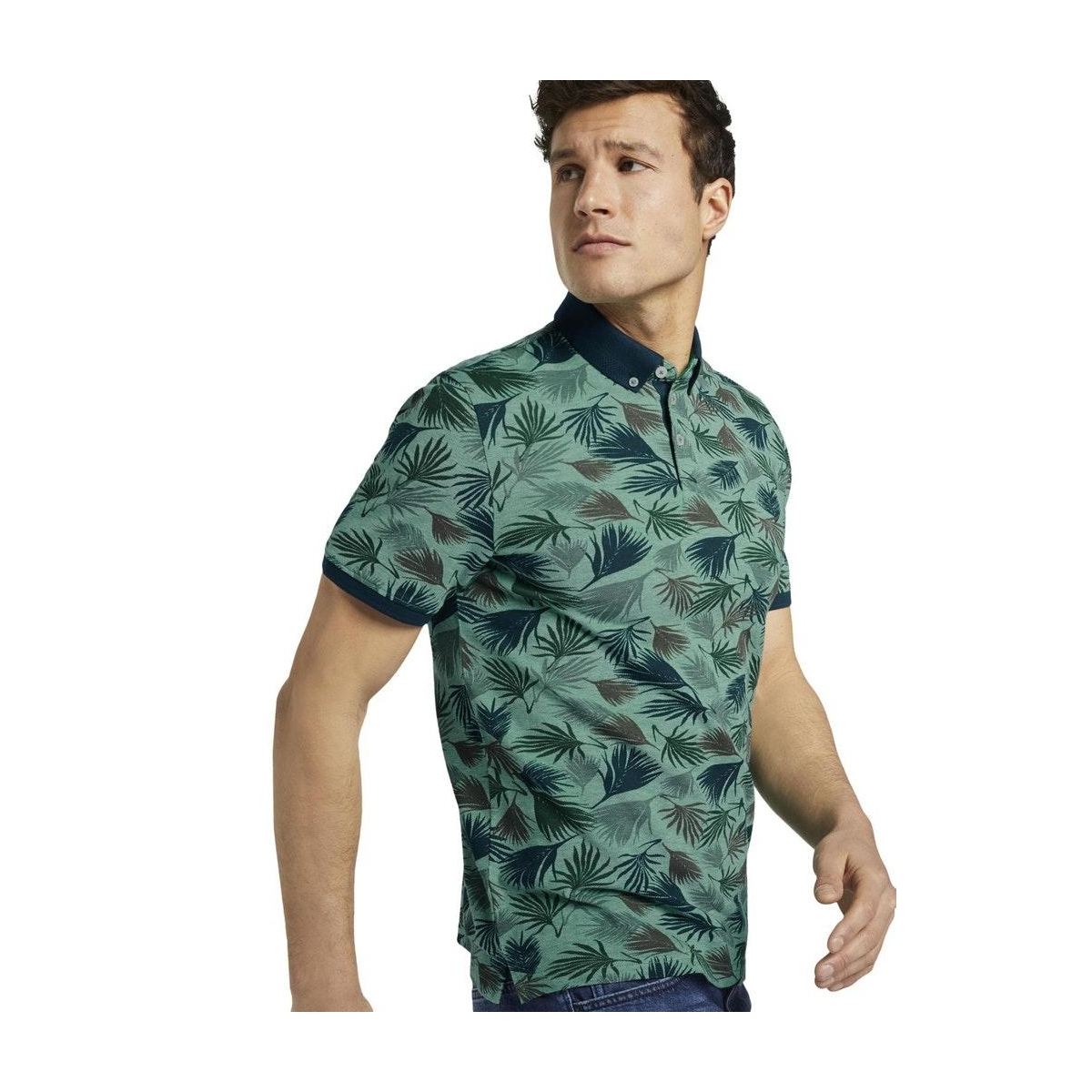 polo shirt met all over print 1018854xx10 tom tailor polo 22598