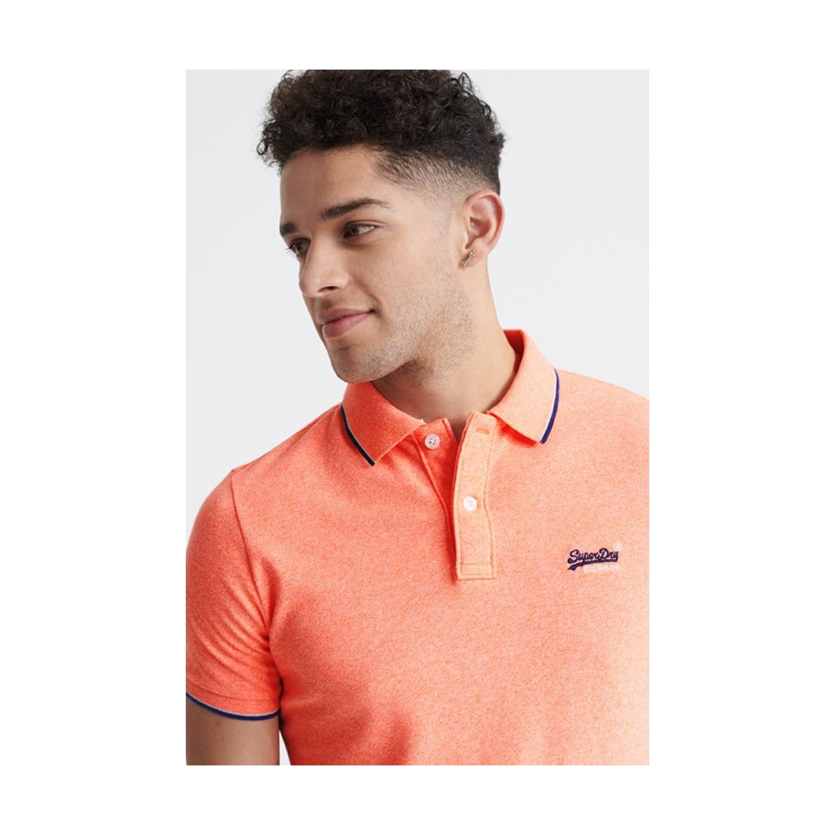 poolside pique s s pol m1110013a superdry polo cabana coral grit