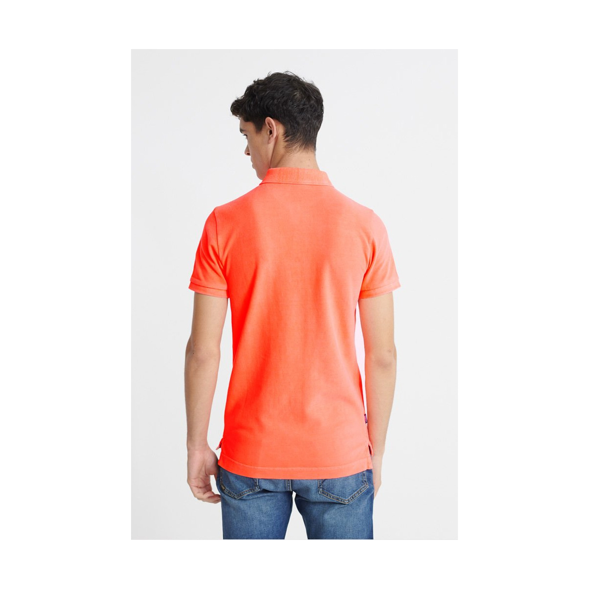 vintage destroyed s s pique polo m1110014a superdry polo hyper coral