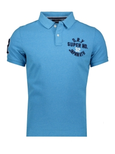 Superdry Polo CLASSIC SUPERSTATE S S POLO M1110008A ELECTRIC BLUE GRIT