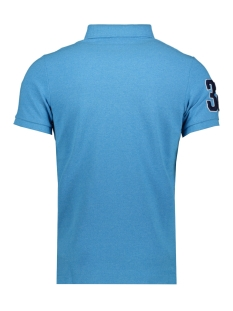 classic superstate s s polo m1110008a superdry polo electric blue grit