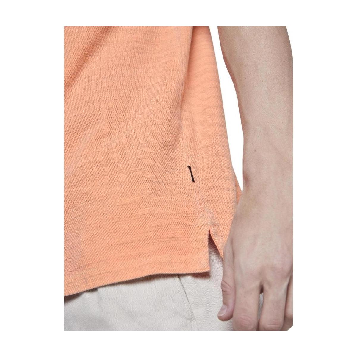 gemeleerde polo met borduursel 1018754xx12 tom tailor polo 22801