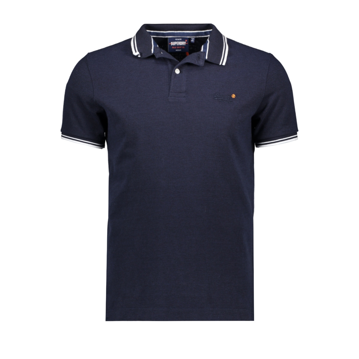 classic poolside pique polo m1110057a superdry polo atlantic navy twist