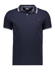 Superdry Polo CLASSIC POOLSIDE PIQUE POLO M1110057A ATLANTIC NAVY TWIST