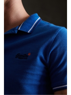 classic poolside pique polo m1110057a superdry polo true blue twist