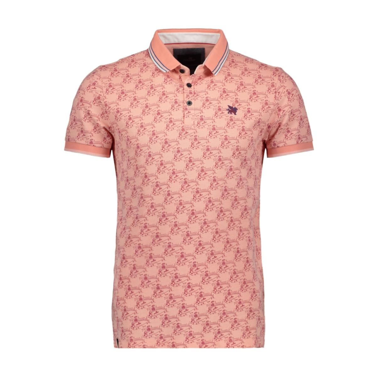 short sleeve pique polo with print vpss203870 vanguard polo 2092