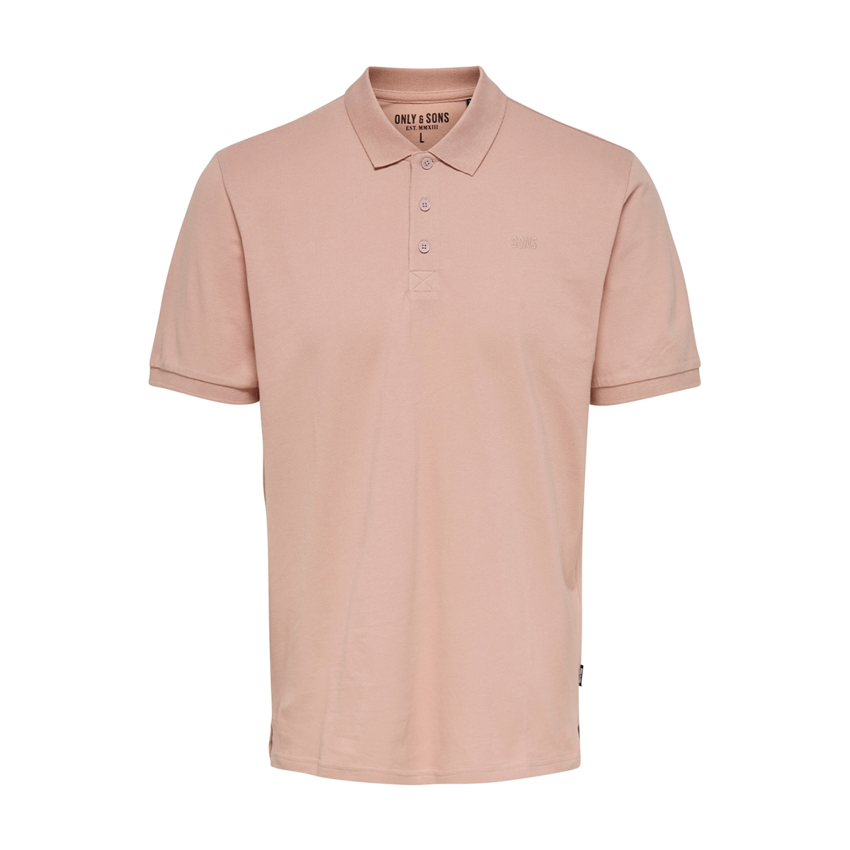 onsscott life pique polo noos 22013117 only & sons polo misty rose