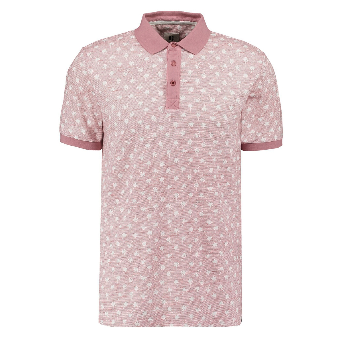 polo met print q01081 garcia polo 4094 dusty rouge