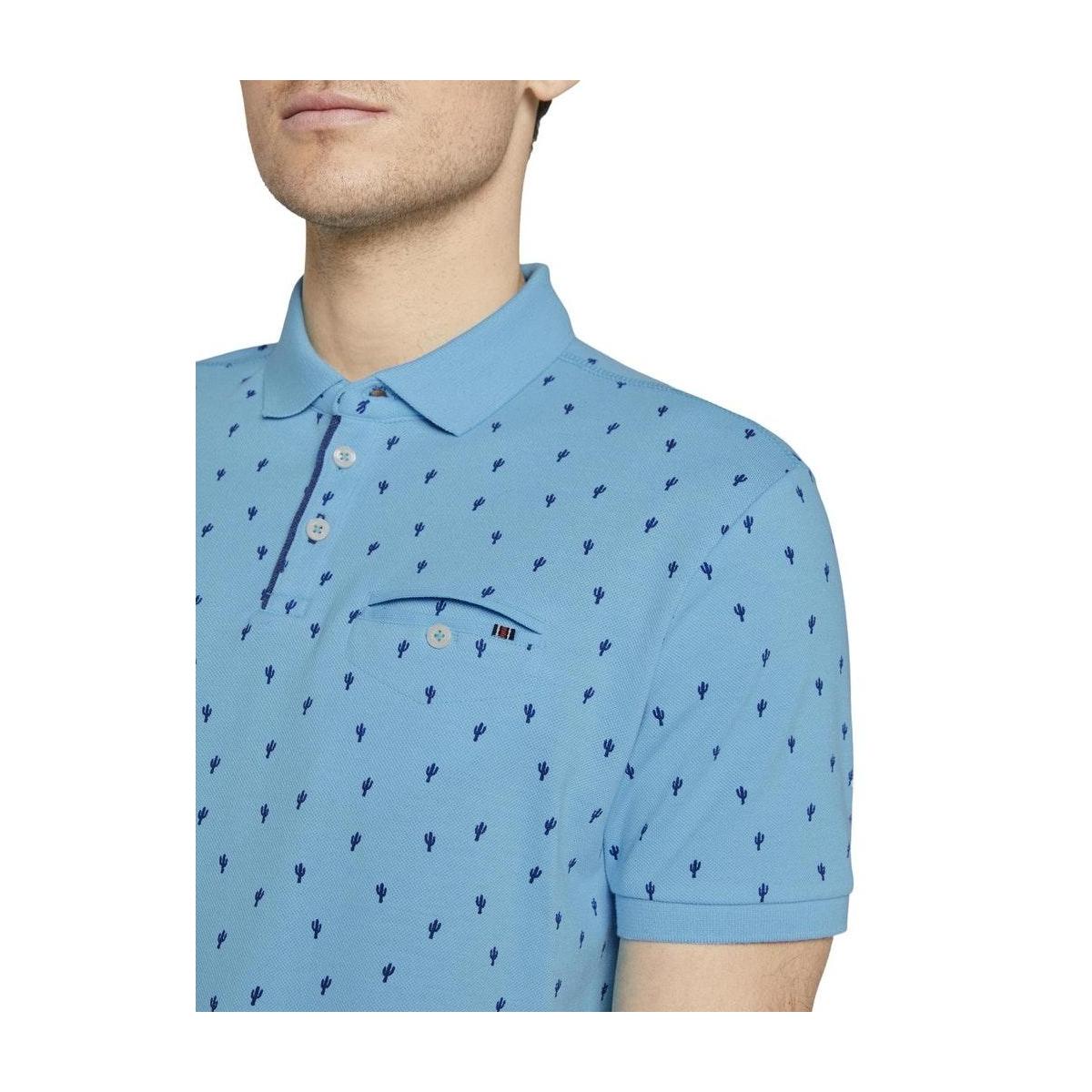 polo met cactus patroon 1019676xx10 tom tailor polo 23408