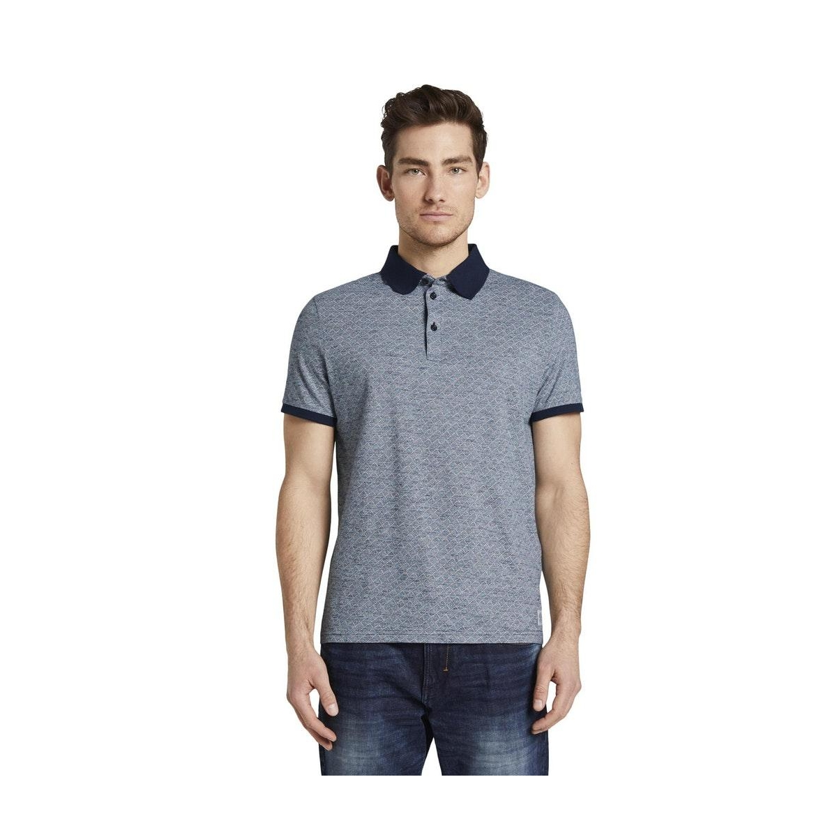 polo met all over print 1018897xx10 tom tailor polo 22919