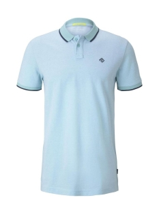 polo shirt met textuur 1019960xx12 tom tailor polo 22966