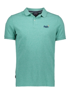 Superdry Polo CLASSIC PIQUE S/S POLO M1110004A SEA FOAM TWIST