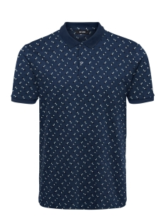Only & Sons Polo ONSMAX MICAS LIFE AOP POLO 22018193 Dress Blues