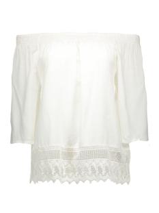 vmangaline 3/4 top 10157406 vero moda t-shirt snow white