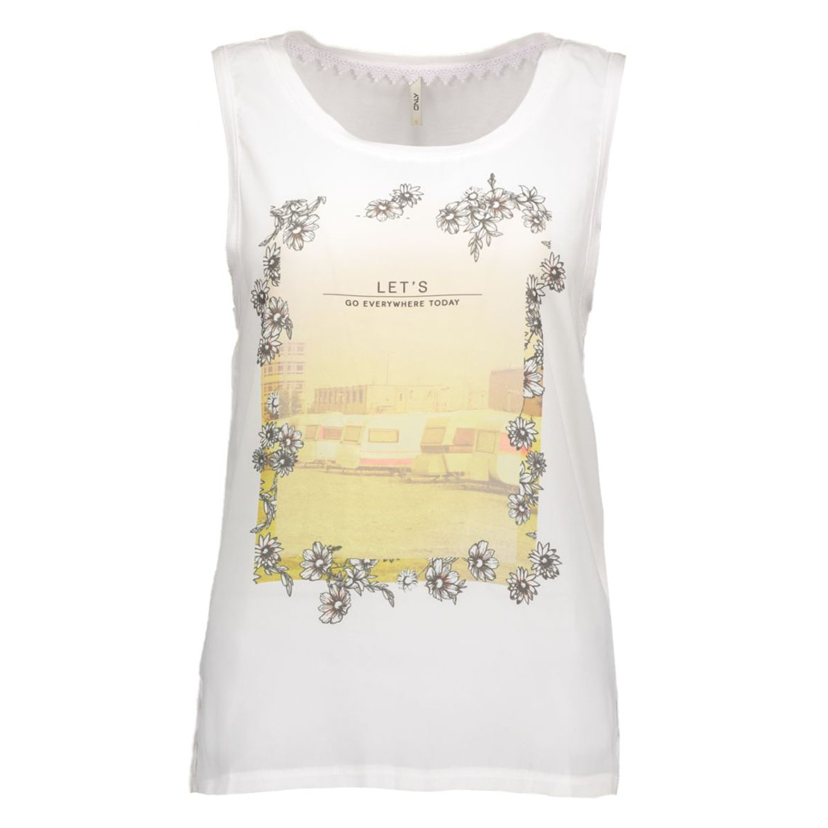 onlcrea s/l let/sun top 15117636 only top bright white