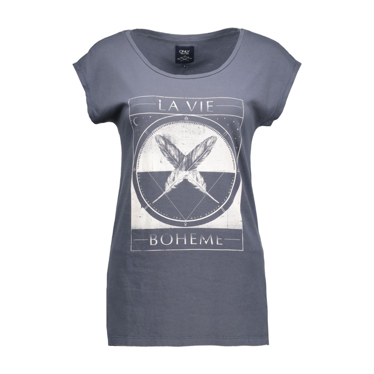 onlfannie joli ss bo 15122575 only t-shirt ombre blue/boheme