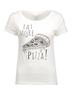 jdyuffe s/s print top jrs 15127866 jacqueline de yong t-shirt cloud dancer/pizza