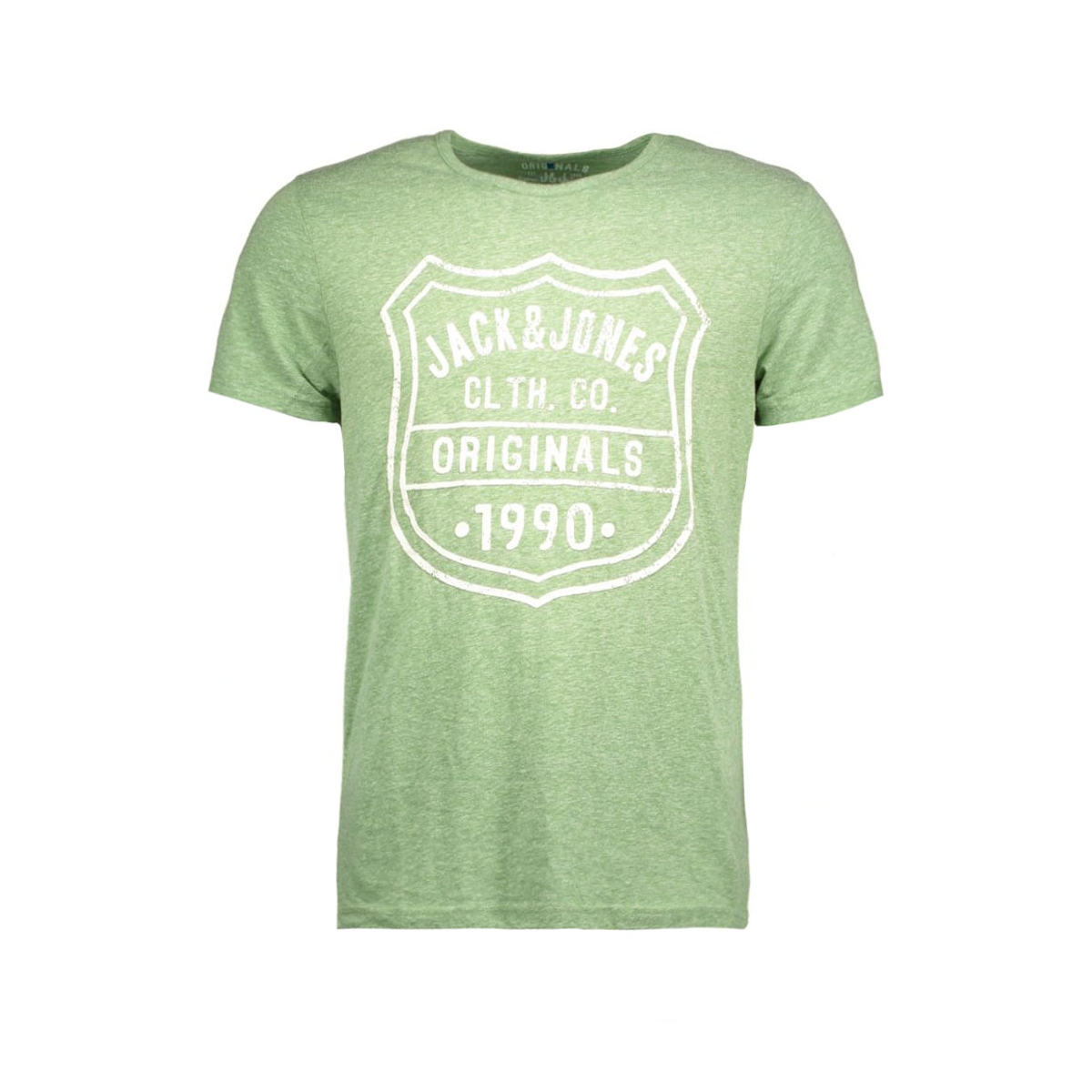 jorbullypocket tee ss crew neck 12106505 jack & jones t-shirt verdant green/print.tal