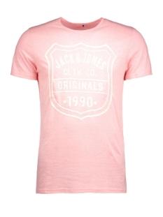 jorbullypocket tee ss crew neck 12106505 jack & jones t-shirt quartz pink/print.tal