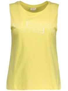 jdykatie print tank top jrs 15111523 jacqueline de yong top sunny lime / cloud danc