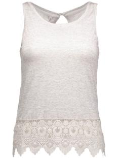 onlbonnie s/l crochet tank top ess 15118695 only top light grey mela/tonal croc
