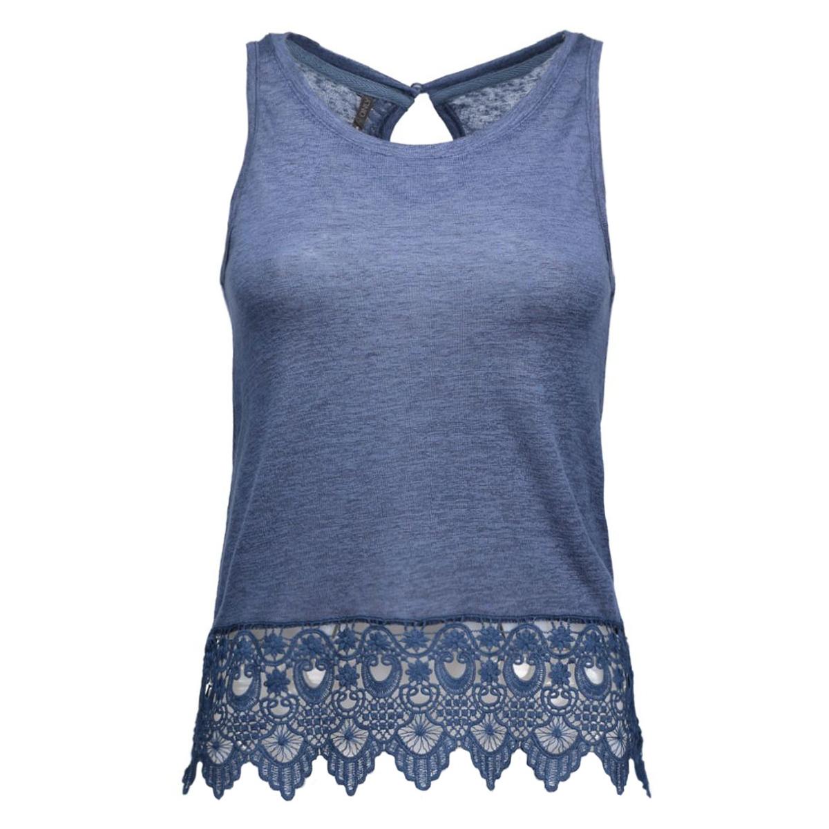 onlbonnie s/l crochet tank top ess 15118695 only top vintage indigo/tonal croc