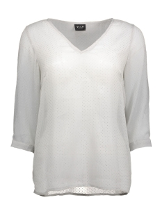 vinilla dot 3/4 top 14037715 vila blouse high rise/silver dot