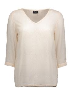 vinilla dot 3/4 top 14037715 vila blouse pink tint/gold dot