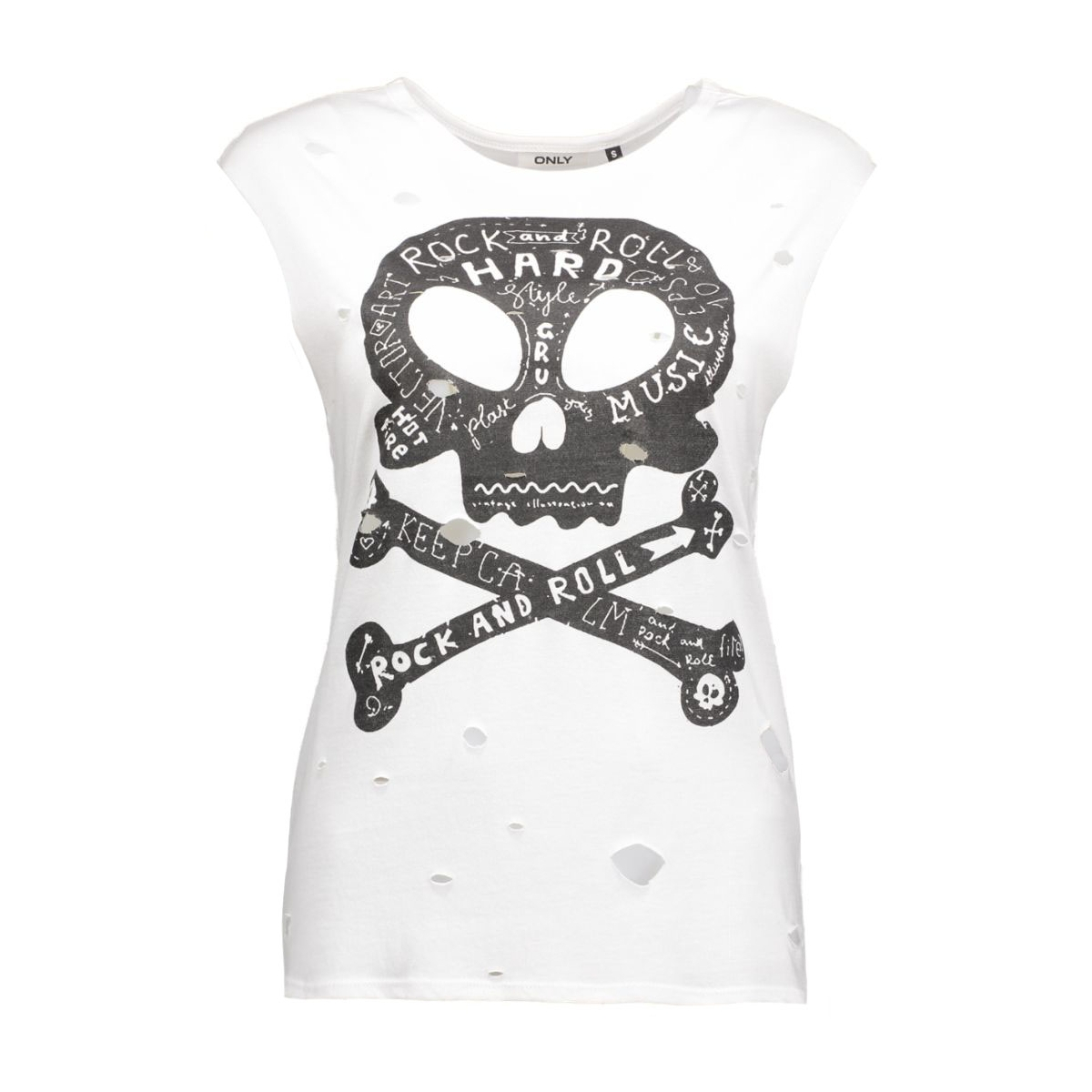 onlhard rock star s/l top box jrs 15124525 only top white/rock and r