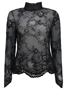 VILORAS L/S LACE TOP-NOOS 14036709 Black