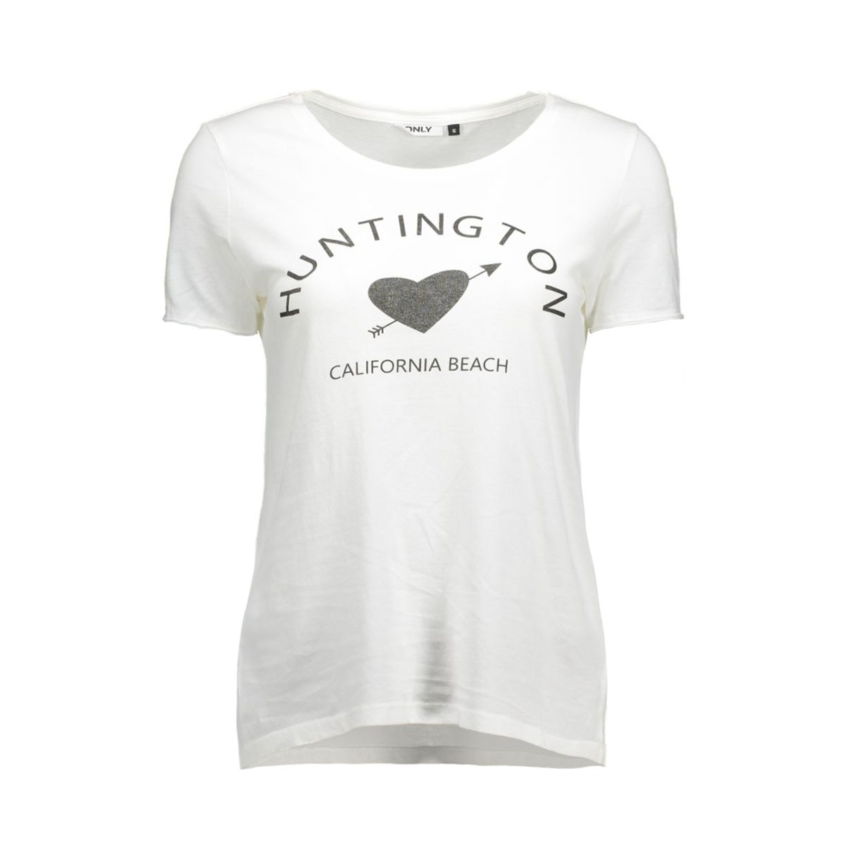 onlhappy s/s tee jrs 15119549 only t-shirt cloud dancer/huntington