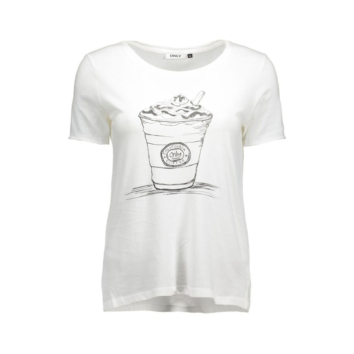 onlhappy s/s tee jrs 15119549 only t-shirt cloud dancer/milkshake