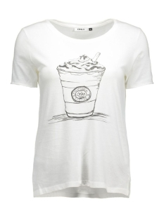 onlhappy s/s tee jrs 15119549 only t-shirt cloud dancer/milkshake