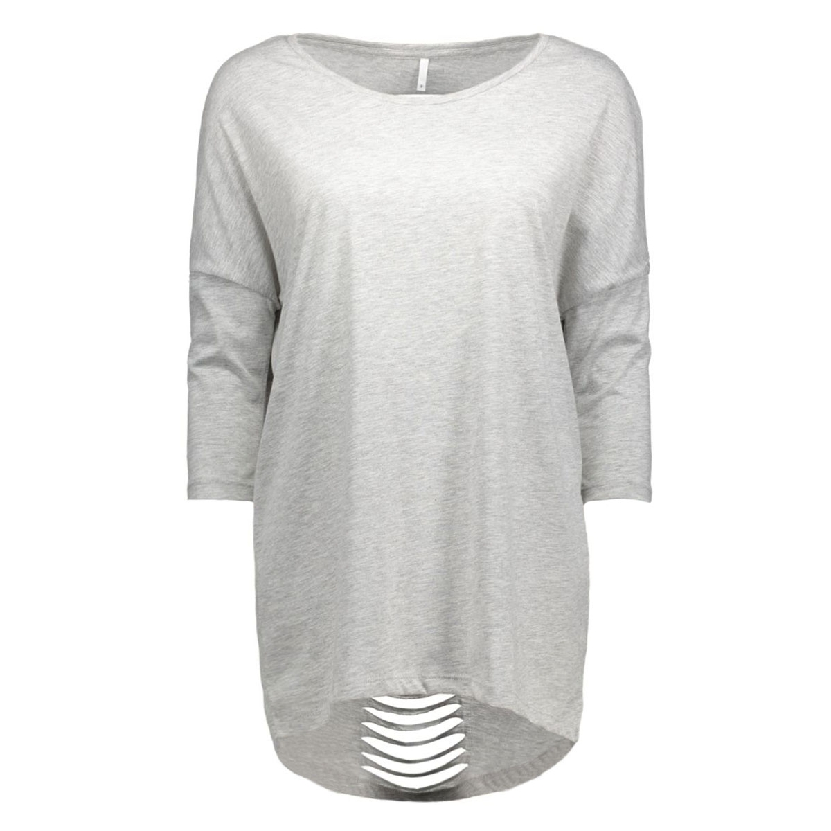 onlabbie 3/4 lacer cut top ess 15118738 only t-shirt light grey melange