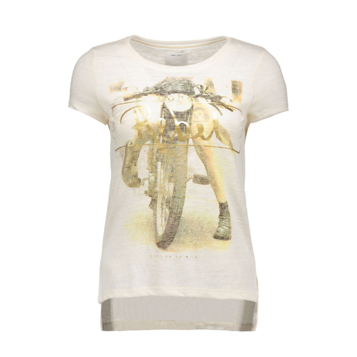 onlgloria s/s rebel/love top box es 15118268 only t-shirt whisper white/rebel