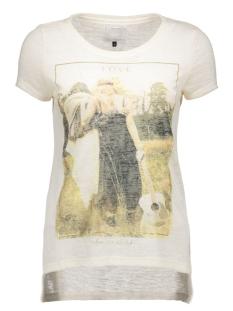 onlgloria s/s rebel/love top box es 15118268 only t-shirt whisper white/love