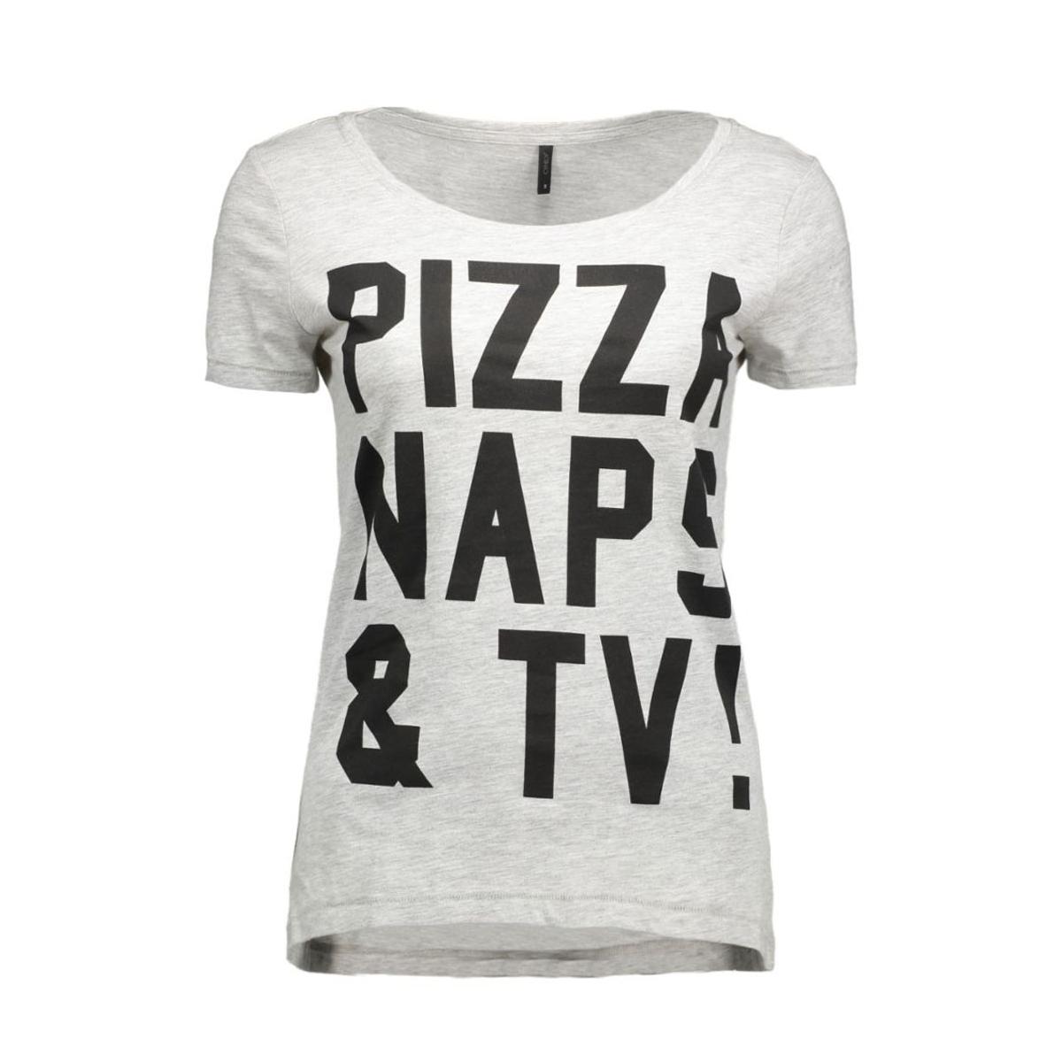 onlcotton s/s relax print top box e 15123689 only t-shirt light grey mela/naps
